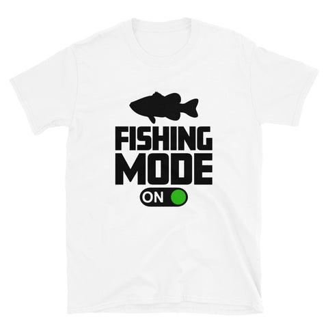 funny fishing t-shirts - white fishing mode on