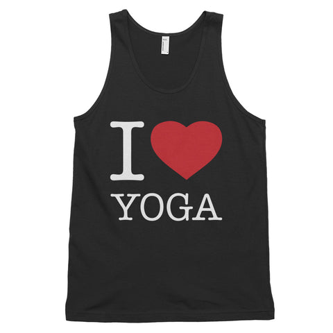 funny yoga tank tops - black I Love Yoga
