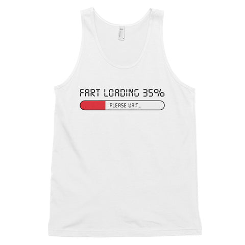 funny dad tank tops - white Fart Loading Please Wait