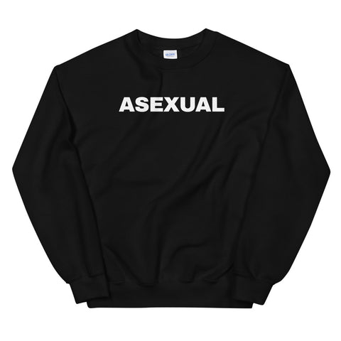 funny gay sweatshirts - black Asexual