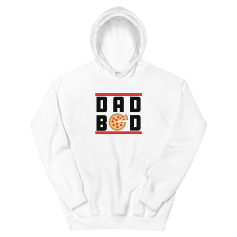 funny dad hoodies - white dad bod pizza