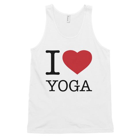 funny yoga tank tops - white I Love Yoga