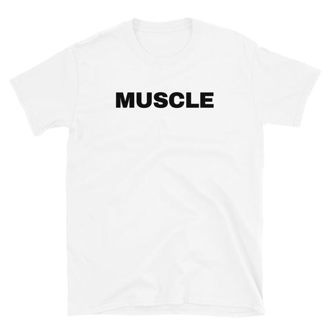 funny workout t-shirts - white muscle