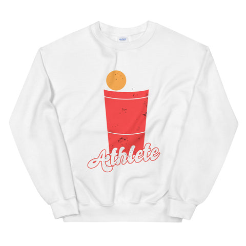 funny drinking sweatshirts - white Beer Pong Athlete