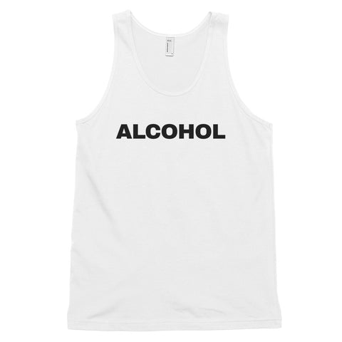 funny drinking tank tops - white Alcohol