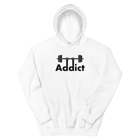 funny workout hoodies - white Gym Addict