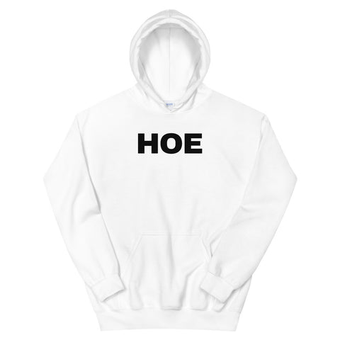 funny offensive hoodies - white hoe