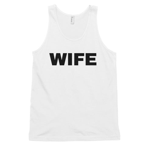 funny mom tank tops - white wife