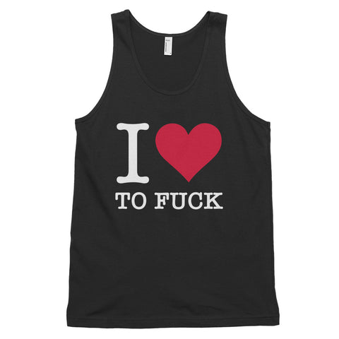funny offensive tank tops - black I Love To Fuck