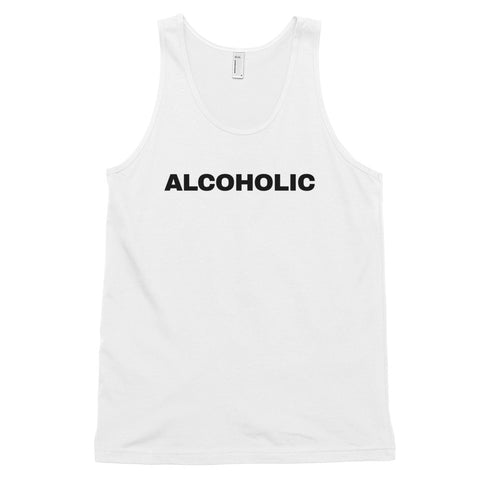 funny drinking tank tops - white Alcoholic