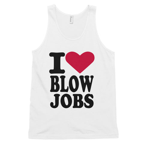 funny offensive tank tops - white i love blow jobs