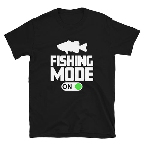 funny fishing t-shirts - black fishing mode on