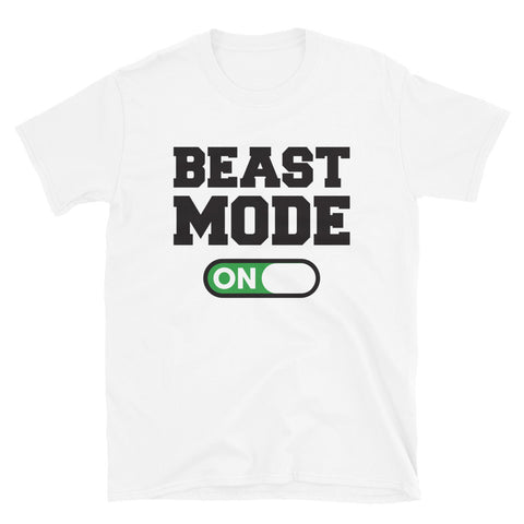 funny workout t-shirts - white Beast Mode On