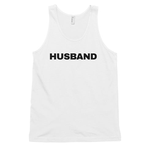 funny dad tank tops - white husband