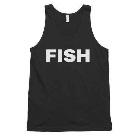 funny fishing tank tops - black fish