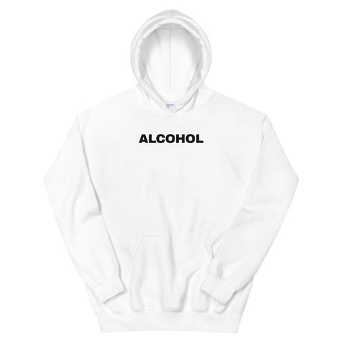 funny drinking hoodies - white alcohol