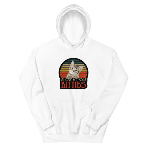 funny cat hoodies - white Show Me Your Kitties