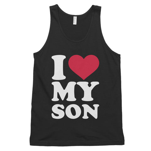 funny dad tank tops - black I Love My Son