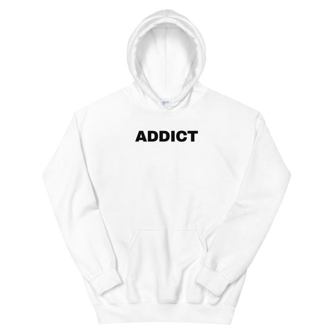 funny drinking hoodies - white addict