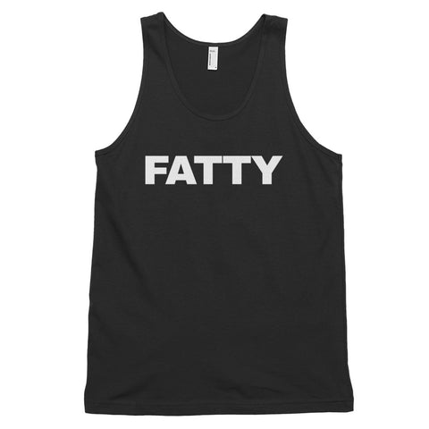 funny offensive tank tops - black fatty