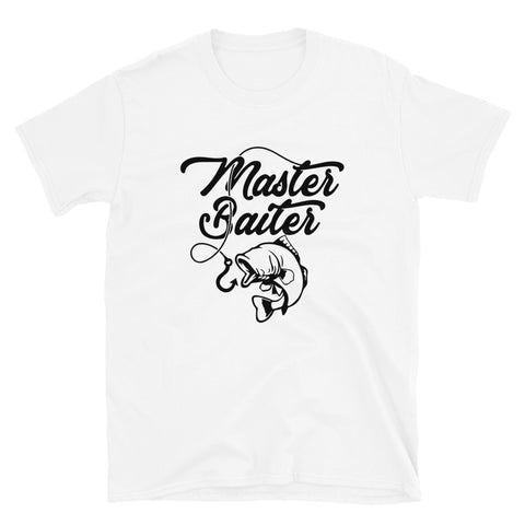funny fishing t-shirts - white master baiter