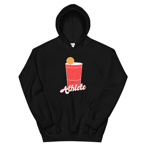 funny drinking hoodies - black Beer Pong Athlete