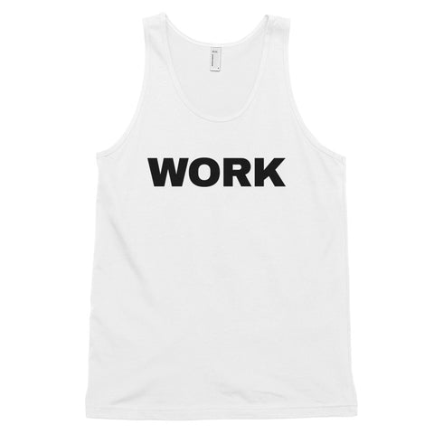 funny workout tank tops - white work