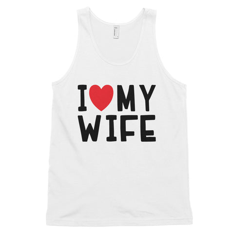 funny dad tank tops - white I Love My Wife V2