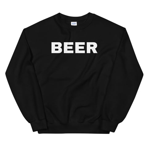 funny drinking sweatshirts - black Beer
