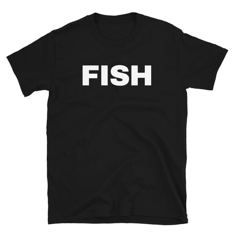 funny fishing t-shirts - black fish
