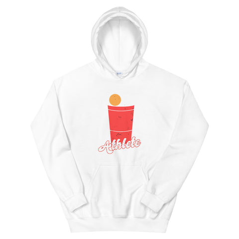 funny drinking hoodies - white Beer Pong Athlete