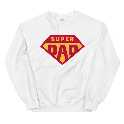 funny dad sweatshirts - white Super Dad