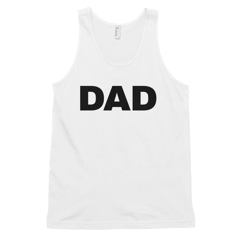 funny dad tank tops - white dad