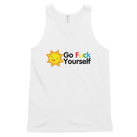 funny offensive tank tops - white Go Fuck Yourself v2