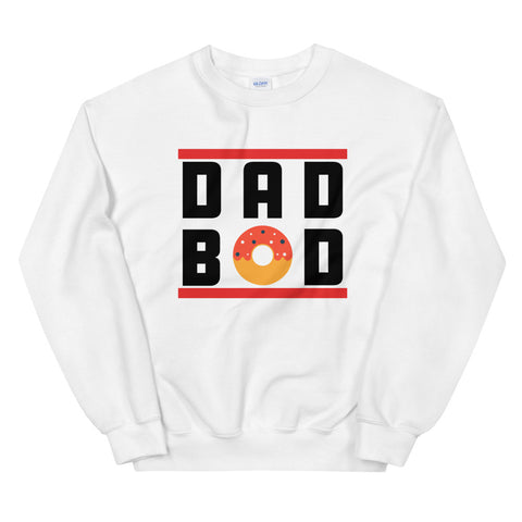 funny dad sweatshirts - white dad bod donuts