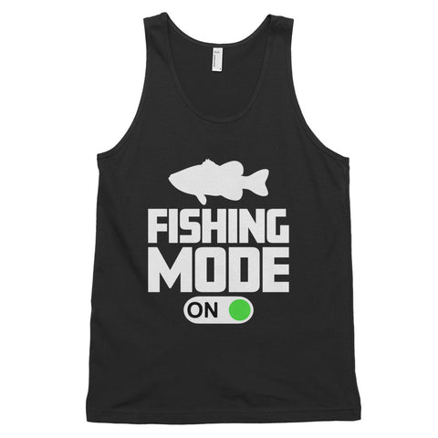 funny fishing tank tops - black Fishing Mode On