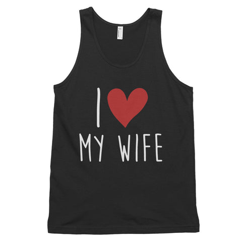 funny mom tank tops - black i love my wife