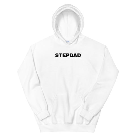 funny dad hoodies - white stepdad