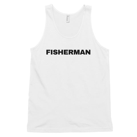 funny fishing tank tops - white fisherman