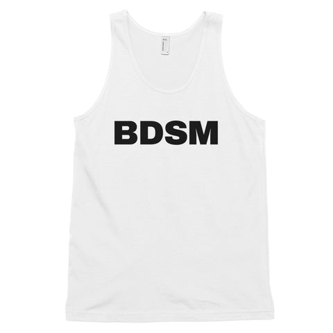 funny gay tank tops - white BDSM