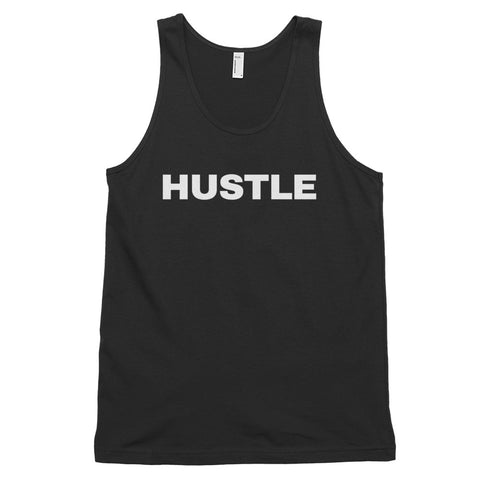 funny workout tank tops - black hustle