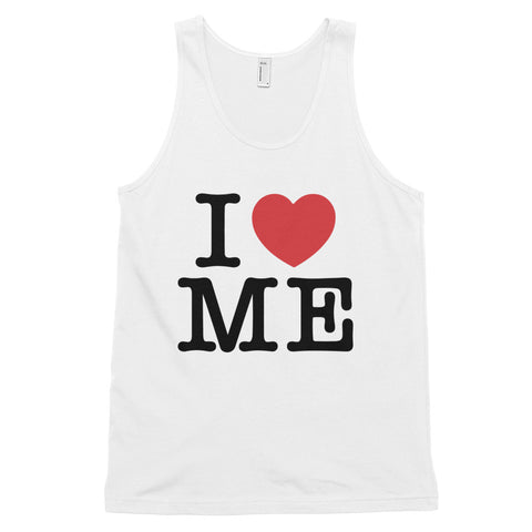 funny mom tank tops - white i love me