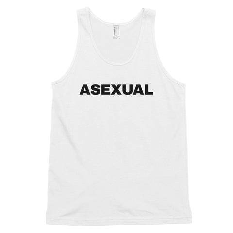 funny gay tank tops - white Asexual