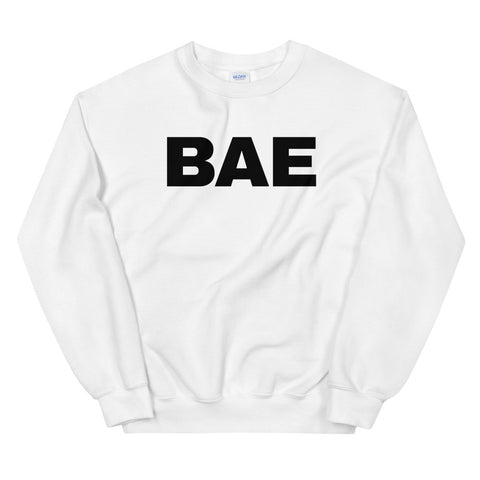funny dad sweatshirts - white bae