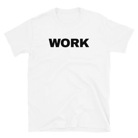 funny workout t-shirts - white work
