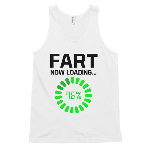 funny dad tank tops - white Fart Now Loading