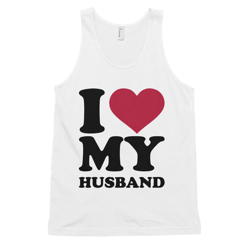 funny dad tank tops - white i love my husband