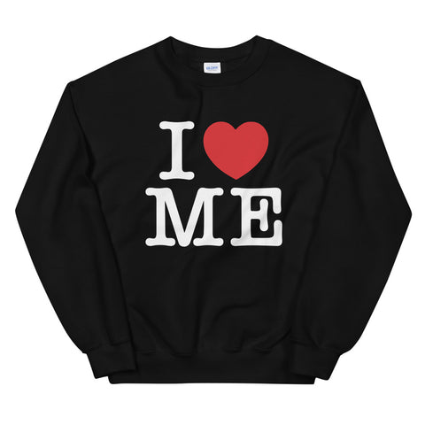 funny mom sweatshirts - black i love me