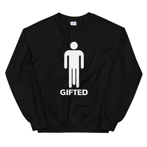funny offensive sweatshirts - black gifted big dick