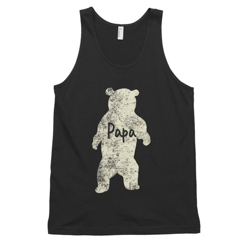 funny dad tank tops - black Papa Bear